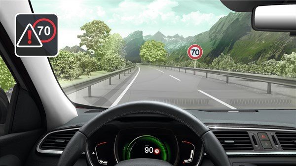 Renault KADJAR - Overspeed alert with traffic signs recognition
